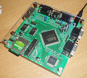 Minimig, un emulador de Amiga implementado en una FPGA.