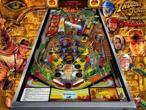 Pinball de Indiana Jones, funcionando como el del recreativo pero en Windows.