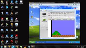 Emulando un na NES en un PC con Linux virtual emulado dentro de Windows XP emulado en Windows 7. INCEPTIOn.